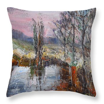 A Puff Of Autumn IIi Throw Pillow
