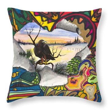A Punch Through Throw Pillow by Darren Cannell