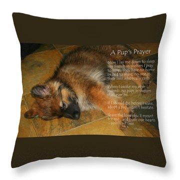 A Pup's Prayer Throw Pillow
