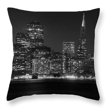 Throw Pillow featuring the photograph A Pyramid In The City by Peter Thoeny