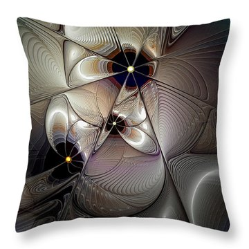 A Question Of Balance Throw Pillow by Casey Kotas