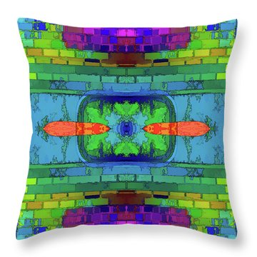 Throw Pillow featuring the digital art A Question Of Balance by Wendy J St Christopher