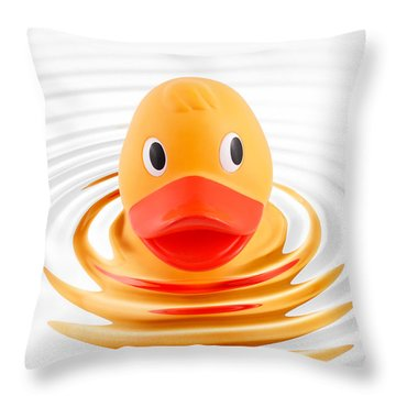 A Quick Dip Throw Pillow by Martin Williams