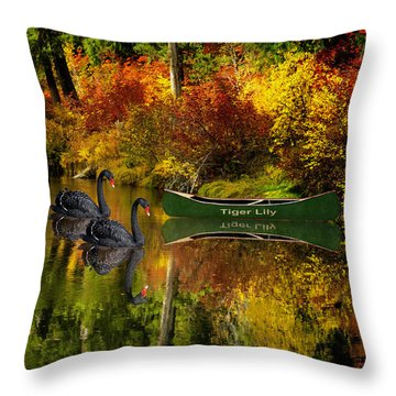 A Quiet Autumn Evening Throw Pillow by Diane Schuster