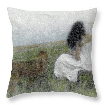 A Quiet Moment On The Vineyard Throw Pillow