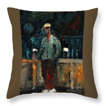 F 772  Holy Hour A Pint And A Spare. Throw Pillow