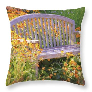 Throw Pillow featuring the photograph A Quiet Place  by Ola Allen