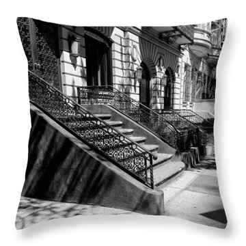 A Quiet Street In Manhattan Throw Pillow