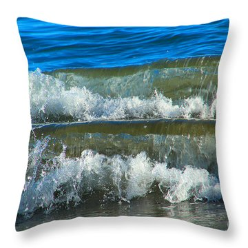A Race For Non-existence, Point Reyes National Seashore, Marin C Throw Pillow by Wernher Krutein