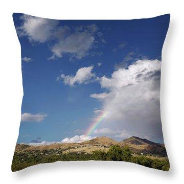 A Rainbow In Salt Lake City Throw Pillow