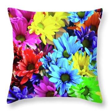 A Rainbow Song Throw Pillow