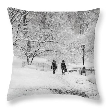 A Ramble In The Snow Throw Pillow