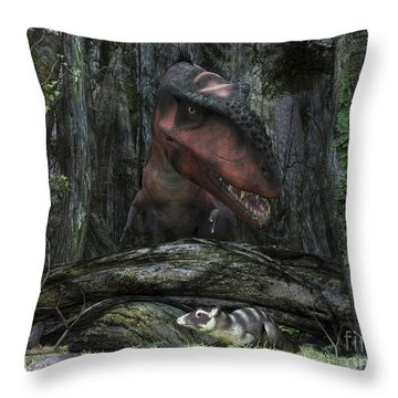 A Rat-sized Purgatorius Hides Throw Pillow by Walter Myers