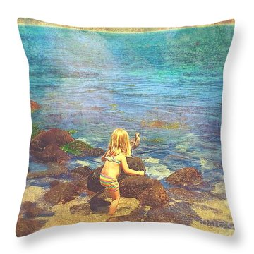 Throw Pillow featuring the digital art A Real Friendship  by Delona Seserman