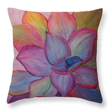 Throw Pillow featuring the painting A Reason For Being by Sandi Whetzel