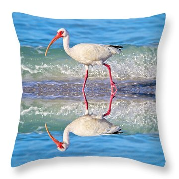 A Reflective Walk Throw Pillow