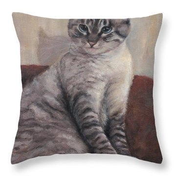 A Regal Pose Throw Pillow