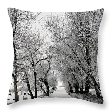 A Reminder Throw Pillow by Rhonda McDougall