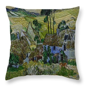 Throw Pillow featuring the painting A Replica Of A Painting  Of Van Gogh by Pemaro