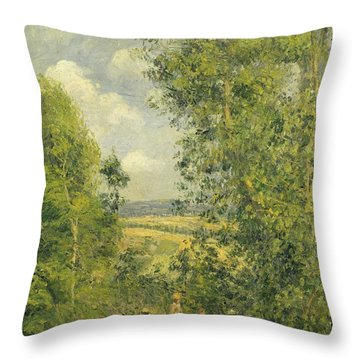 A Rest In The Meadow Throw Pillow by Camille Pissarro