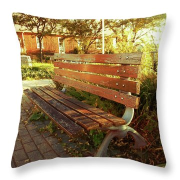Throw Pillow featuring the photograph A Restful Respite by Shawn Dall