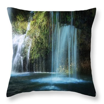 A Resting Place At Natural Falls Throw Pillow