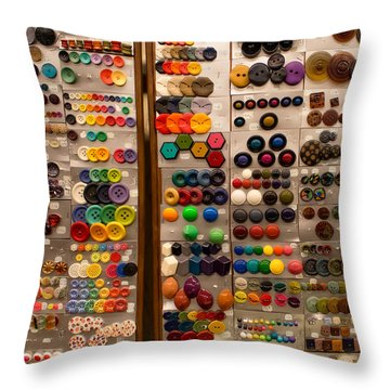A Riot Of Buttons Throw Pillow