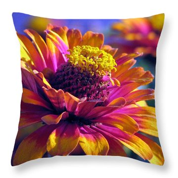 Throw Pillow featuring the photograph A Riot Of Color by Chris Anderson
