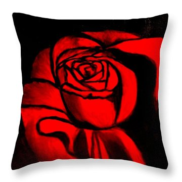 A Rose For Delilah  Throw Pillow