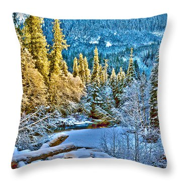 A River Runs Down It Throw Pillow