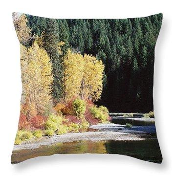 A River Runs Past It Throw Pillow