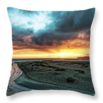 A River Runs Through Throw Pillow