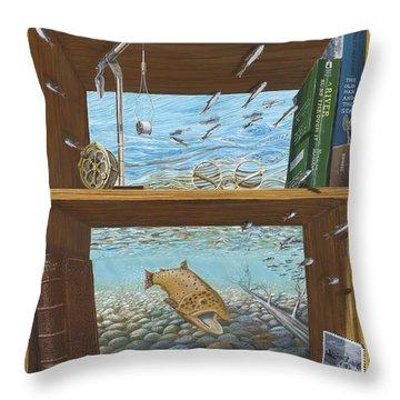 A River Runs Through It Throw Pillow by Susan Schneider