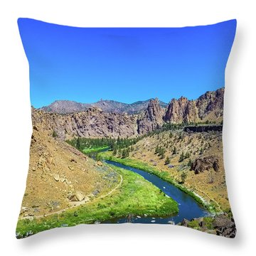 A River Runs Through Throw Pillow