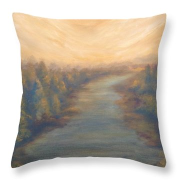 A River's Edge Throw Pillow