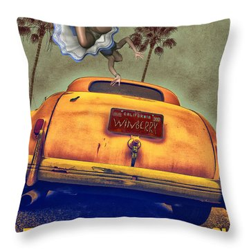 A Road Of Worry A Trunk Full Of Possabilities Throw Pillow by Bob Winberry