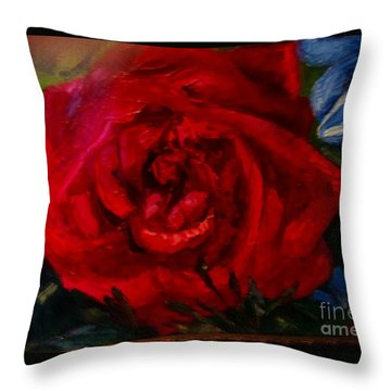 A  Rose Is Throw Pillow