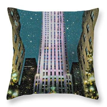 A Rocking Christmas Throw Pillow