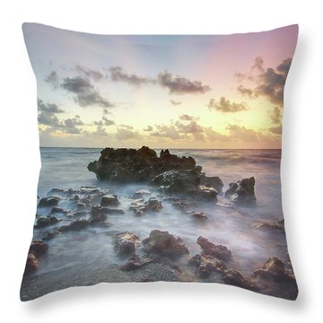 A Rocky Sunrise. Throw Pillow