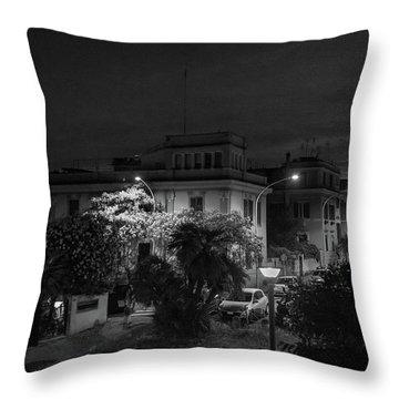 A Roman Street At Night Throw Pillow