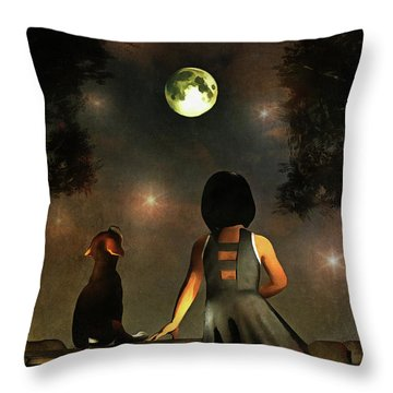 A Romantic Meeting Throw Pillow