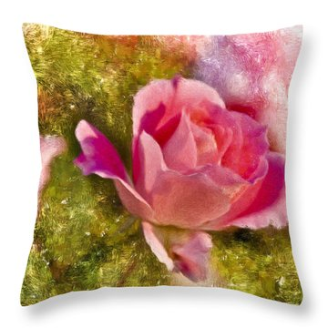 A Rose Among . . . Throw Pillow by Ches Black