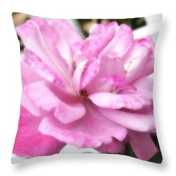 Throw Pillow featuring the photograph A Rose For Cyndee by Kate Word