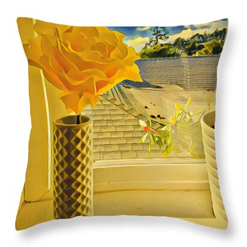A Rose Is A Rose Electric Throw Pillow