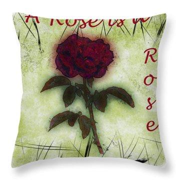 A Rose Throw Pillow