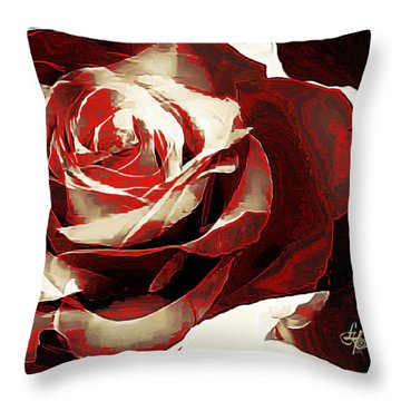 A Rose Of Love Throw Pillow