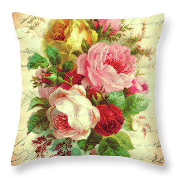A Rose Speaks Of Love Throw Pillow
