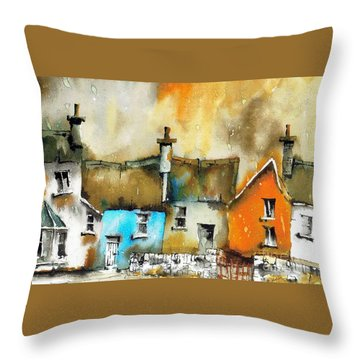 A Row Of Colour Throw Pillow