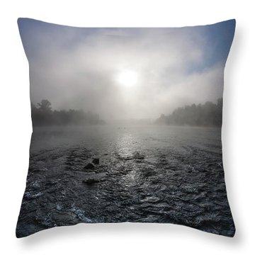 A Rushing River Throw Pillow