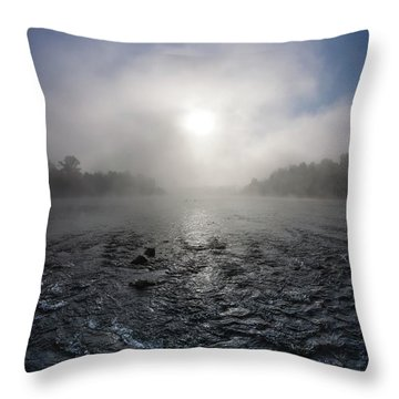 A Rushing River Throw Pillow